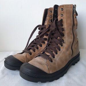 Palladium Pampa Hi Rise L Zip Tan Boots